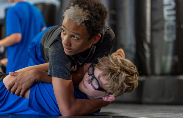 Kobe P & Jack K. at Martial Arts/MMA Training